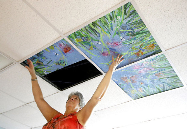 Painting Ceiling Tiles Art Project
